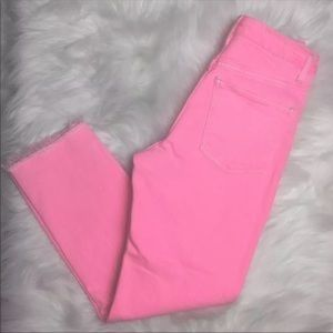 TOPSHOP LEIGH PINK MOTO JEANS SIZE 32